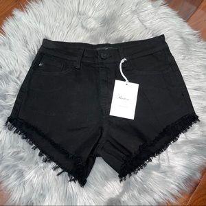 NWT KanCan Black Jeans Short Size 27